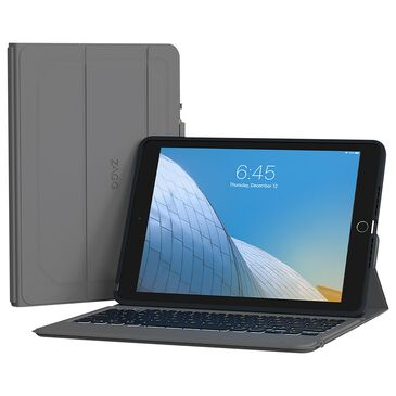 """Zagg Rugged Messenger Bluetooth Keyboard Case For Apple iPad 10.2"""" - Charcoal, , large"""