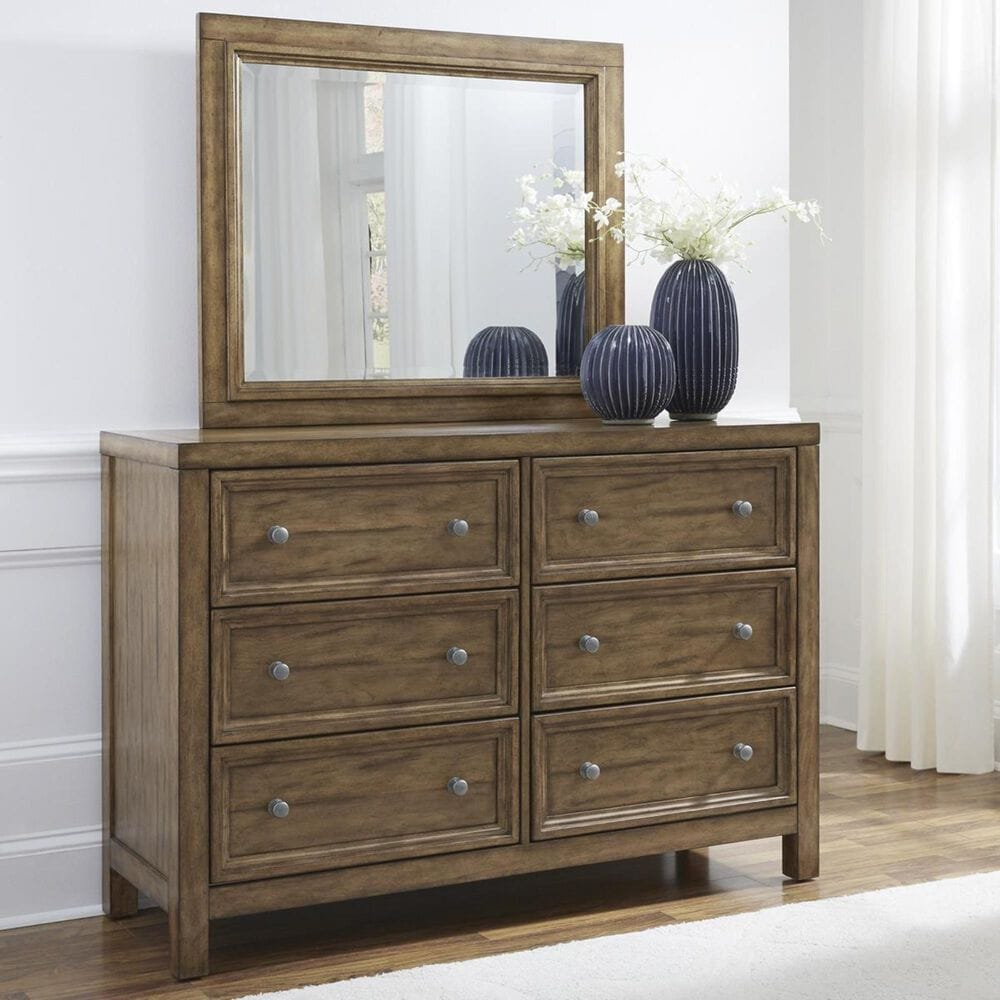 Home Styles Sedona 6-Drawer Dresser and Mirror in Toffee, , large