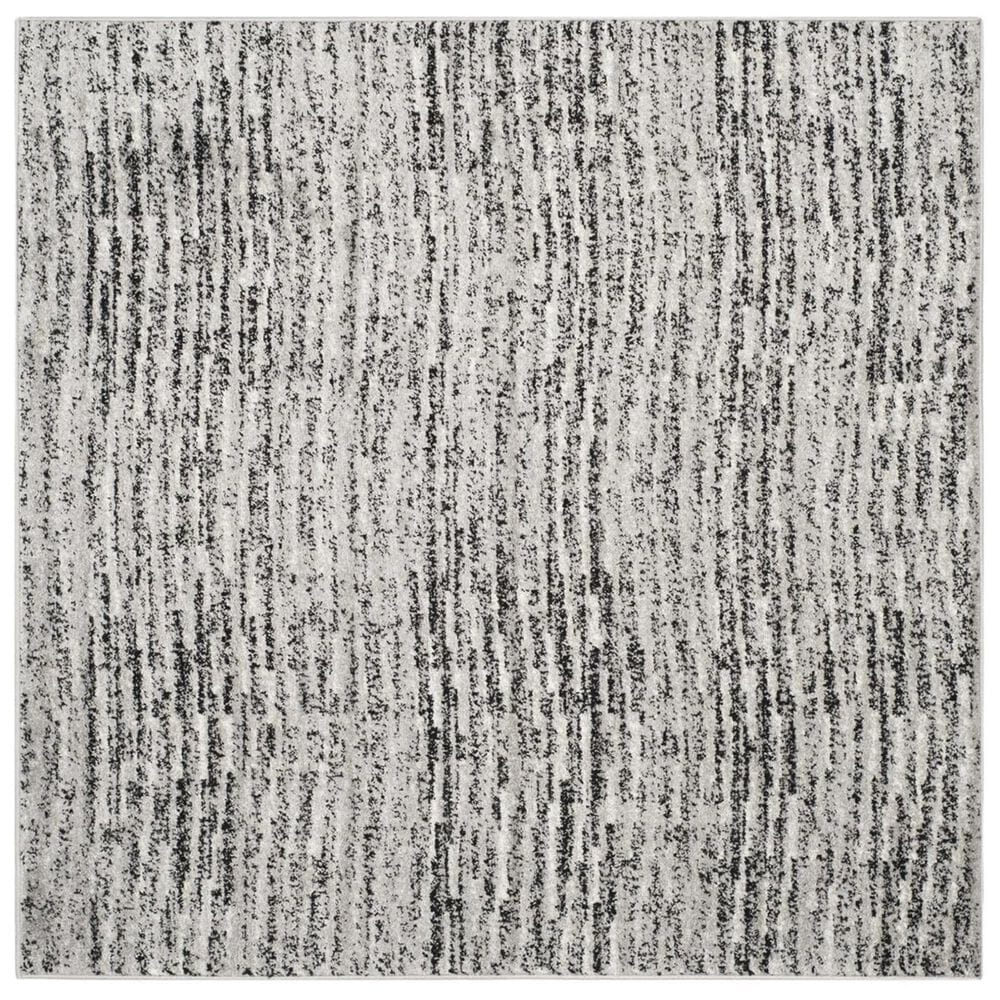 Safavieh Adirondack ADR117A 4' Square Black and Silver Area Rug, , large