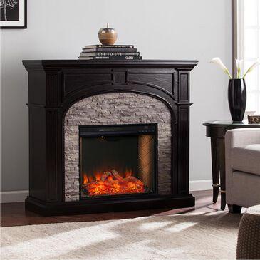 Southern Enterprises Fael Alexa Enabled Smart Fireplace in Ebony/Shades Of Gray Faux Stone, , large