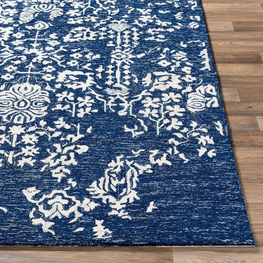 Surya Granada GND-2311 2' x 3' Dark Blue, Denim and Ivory Scatter Rug, , large