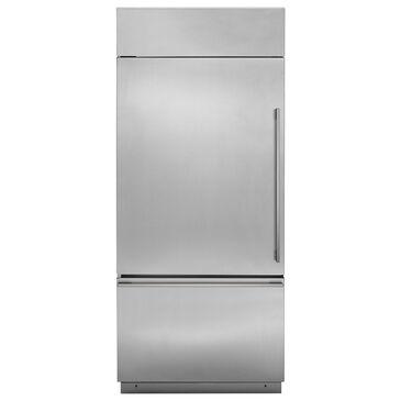 "Monogram 36"" Bottom Freezer Refrigerator on Left Hinge in Stainless Steel, , large"