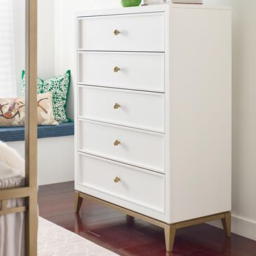 Legacy Classic Chelsea 5 Drawer Chest in White, , large