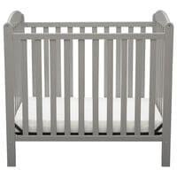 Delta Sprout Mini Crib with Mattress in Gray