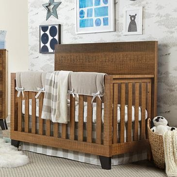 Eastern Shore Urban Rustic Convertible Crib in Brushed Wheat, , large