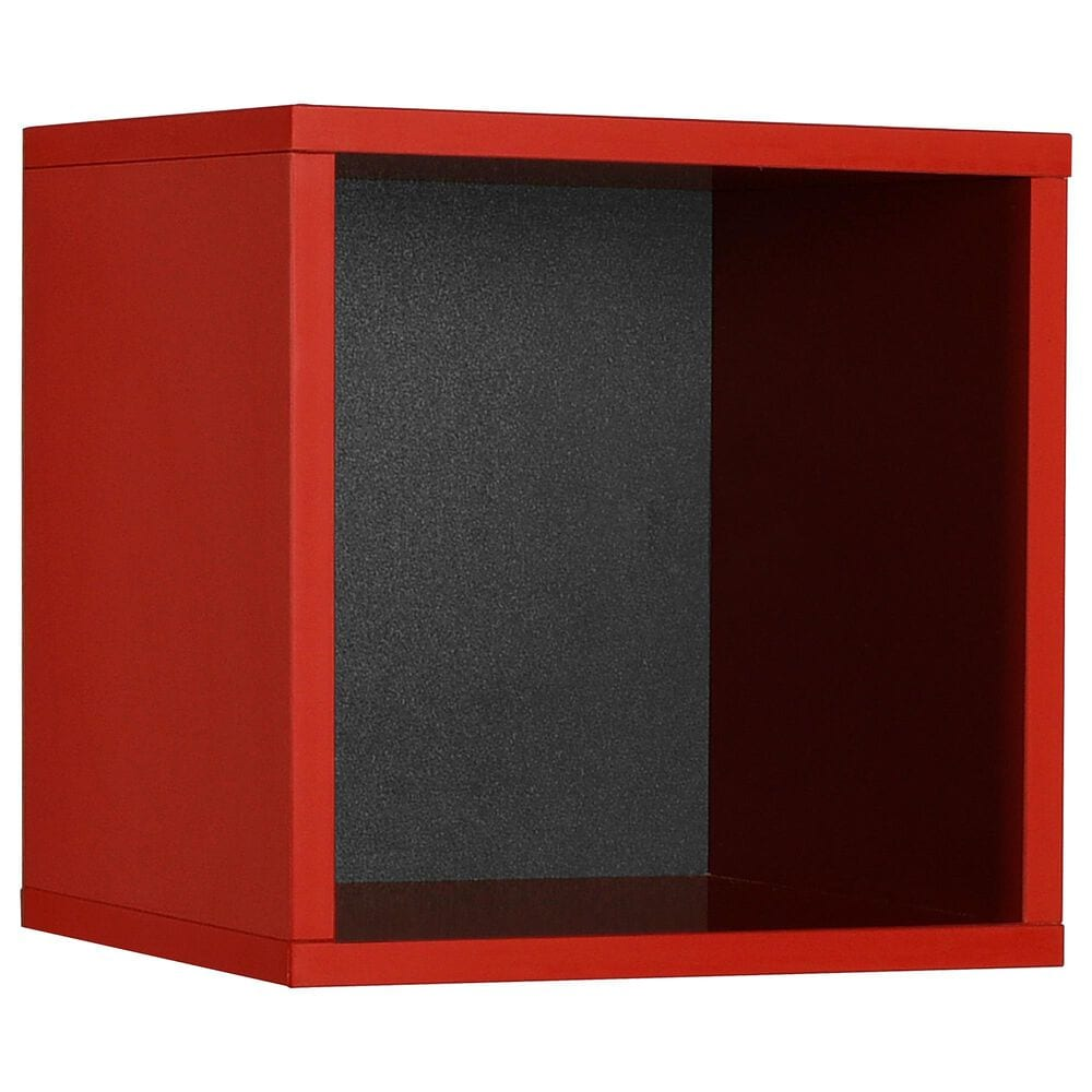 Regency Global Sourcing Niche Lux Cube Wall Shelf in Red, , large