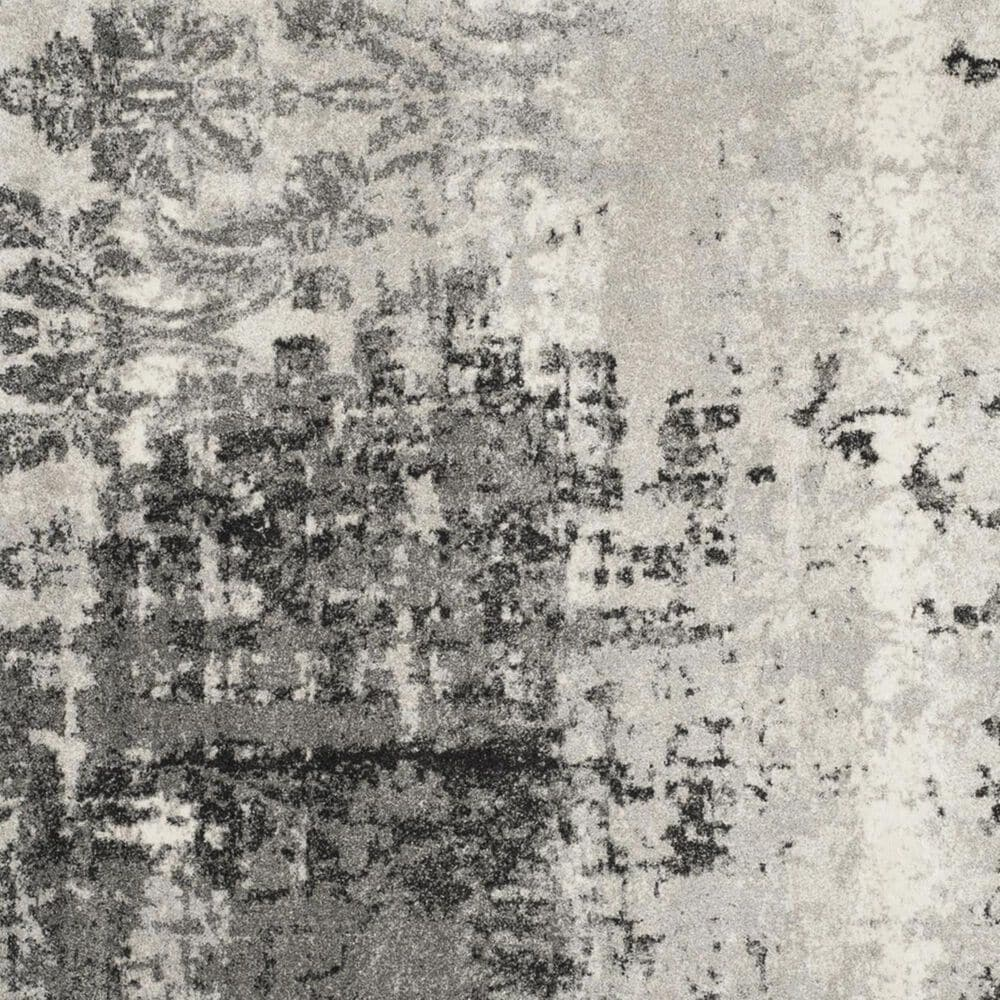 Safavieh Retro RET2139-7980 8' Round Light Grey and Grey Area Rug, , large
