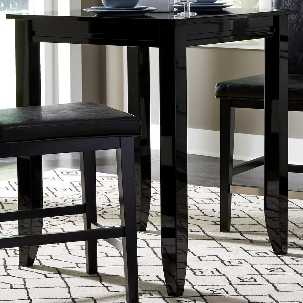 Home Styles Linear Dining Table in Black, , large