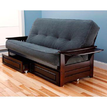 Kodiak Furniture Phoenix Espresso Futon with Under Storage in Marmont Thunder, , large