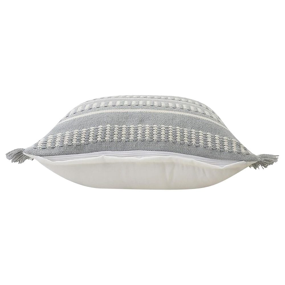 """L.R. RESOURCES Dash 24"""" x 24"""" Outdoor Pillow in Powder Blue and White, , large"""