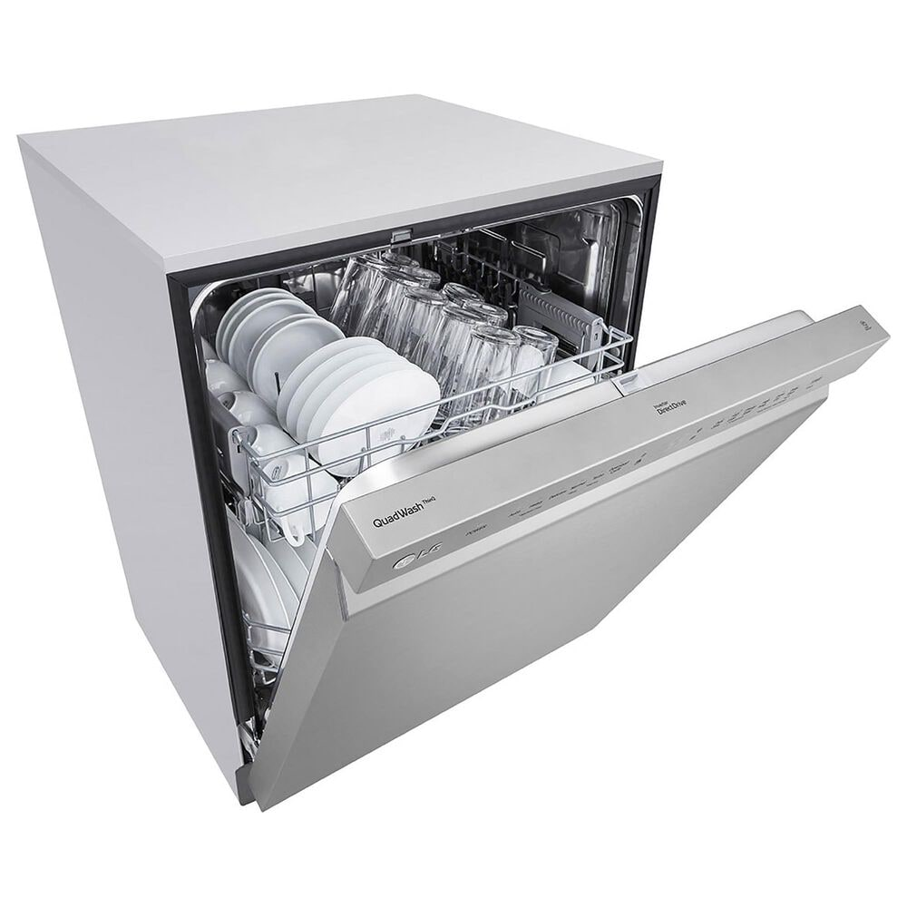 """LG 24"""" Front Control Smart Dishwasher in Stainless Steel, , large"""