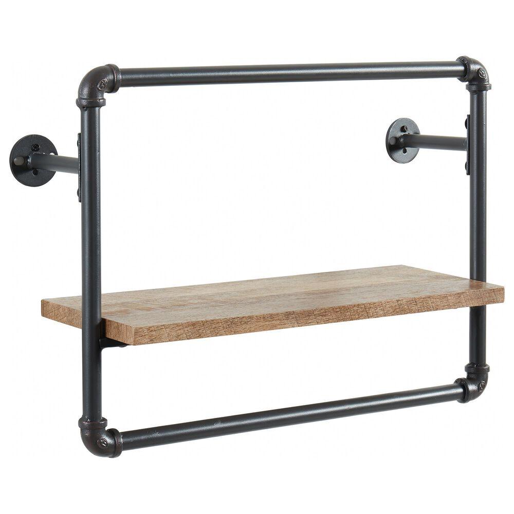 "Furniture of America Dennis 16.25"" x 21"" Wall Shelf in Sand Black, , large"