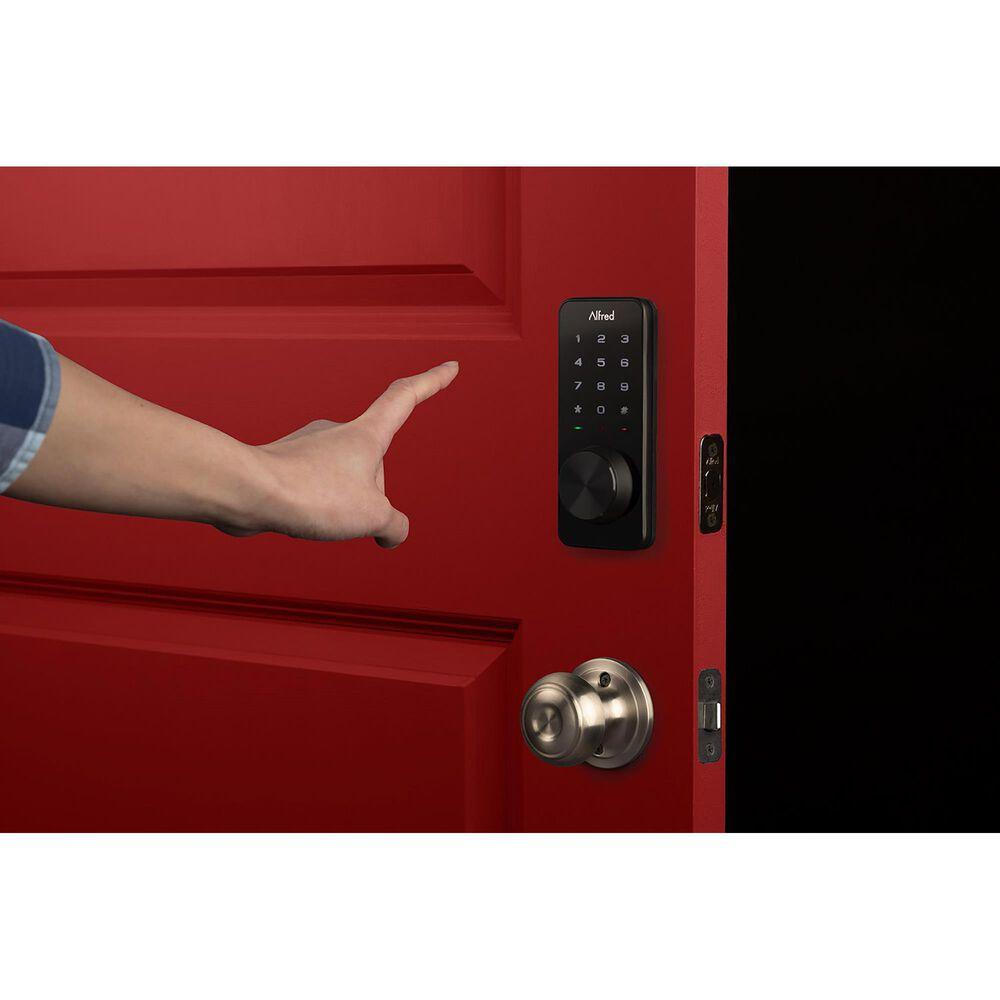 Alfred Music Db1 Smart Deadbolt Lock Black Zwave With Key, , large