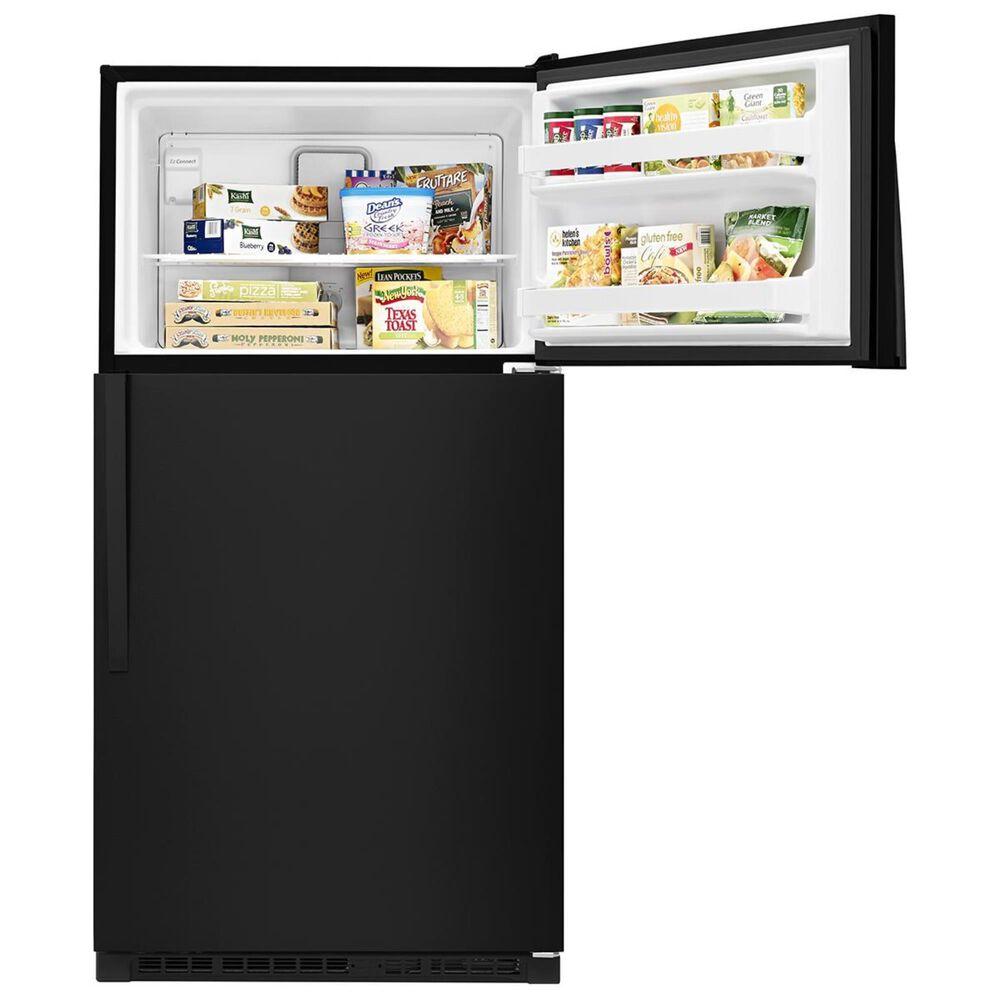 Whirlpool 20.5 Cu. Ft. Top Freezer Refrigerator in Black, , large