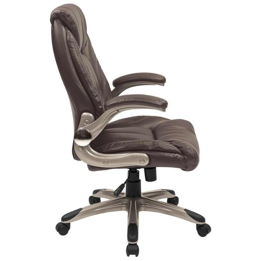 OSP Home FL Series Mid Back Managers Chair in Cocoa, , large