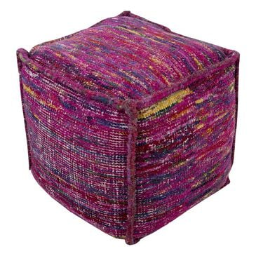 Surya Inc Bazaar Cube Pouf in Purple, , large