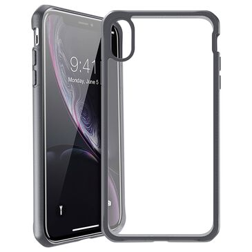 ITSkins Hybrid Frost MK II Case For Apple iPhone Xr in Black And Transparent, , large