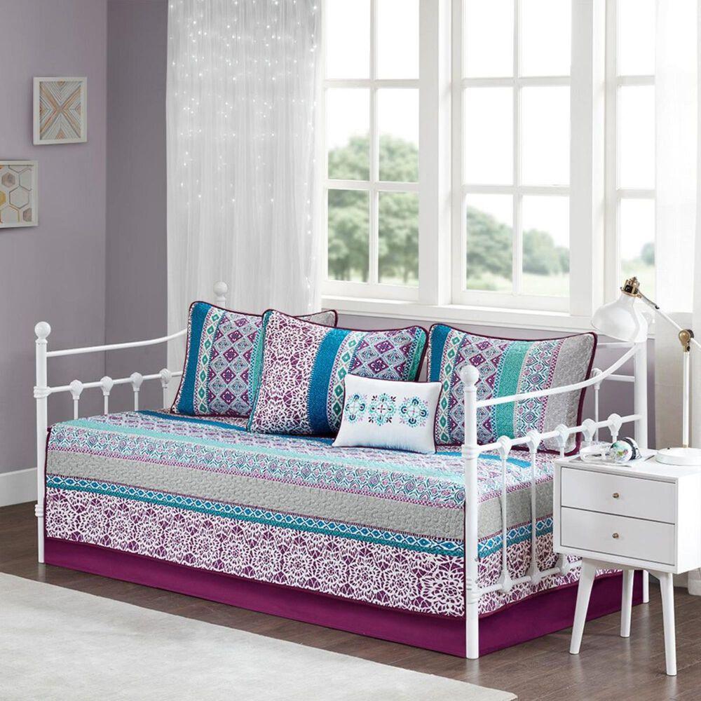 Hampton Park Joni 6-Piece Boho Daybed Cover Set in Purple, , large