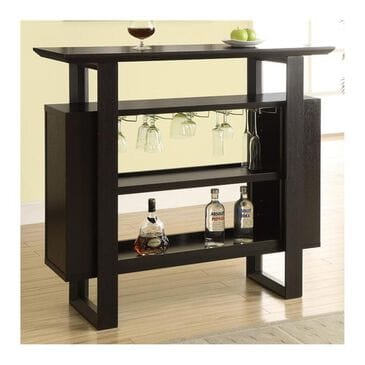 Monarch Specialties Open Bar Unit in Cappuccino, , large