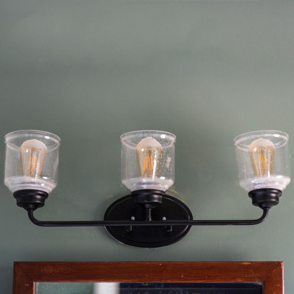 Maxim Lighting Acadia 3-Light Bath Vanity in Black, , large