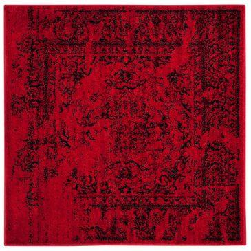 Safavieh Adirondack ADR101F-4SQ 4' x 4'  Red/Black Square Rug, , large