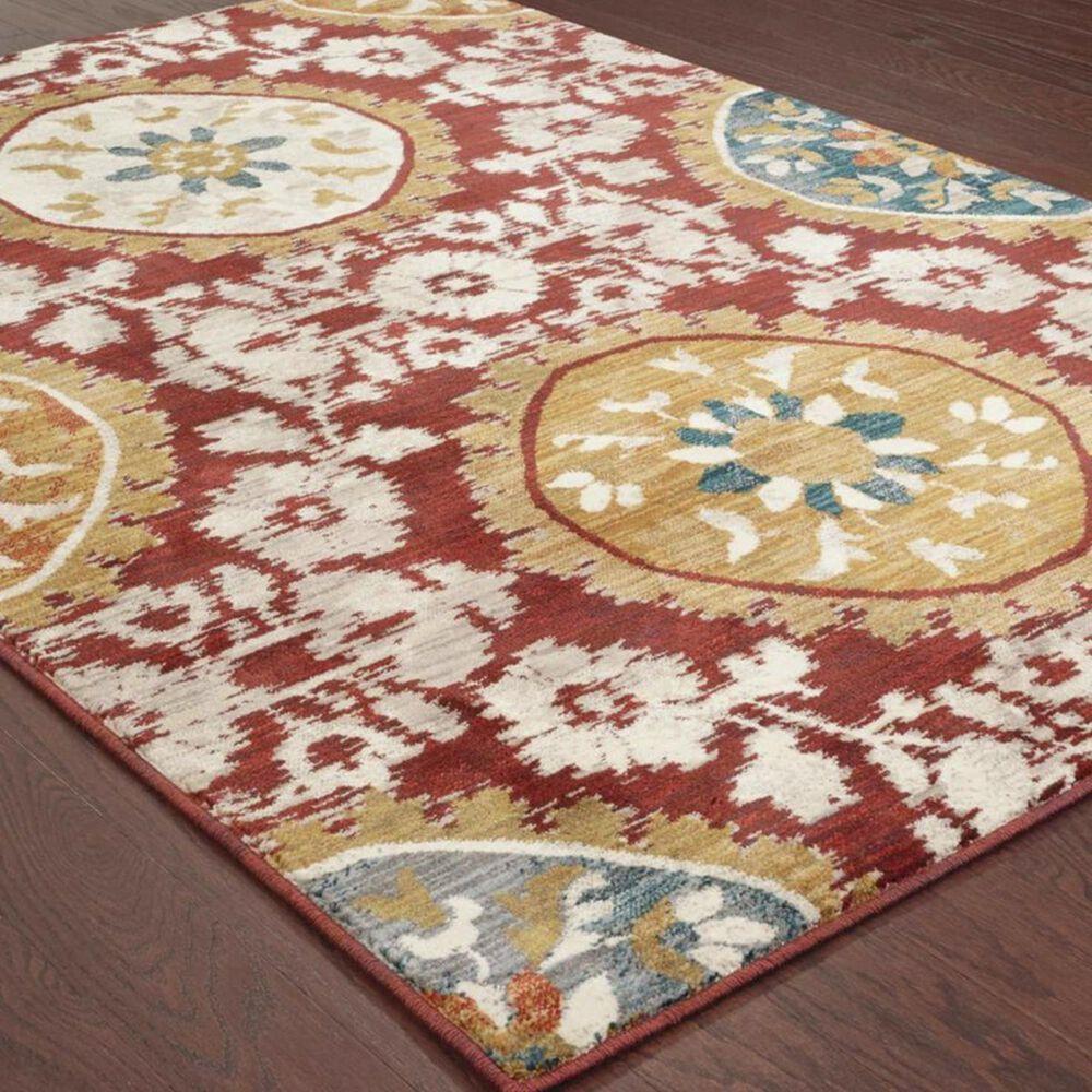 "Oriental Weavers Sedona 6366A 9'10"" x 12'10"" Red Area Rug, , large"