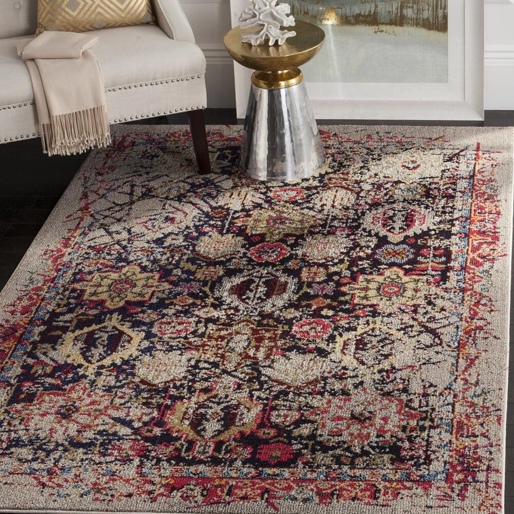 Safavieh Monaco MNC206G-3 3' x 5' Grey/Multi Area Rug, , large