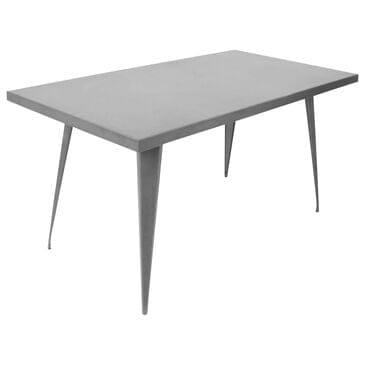 Lumisource Austin Dining Table in Matte Grey/Matte Grey, , large