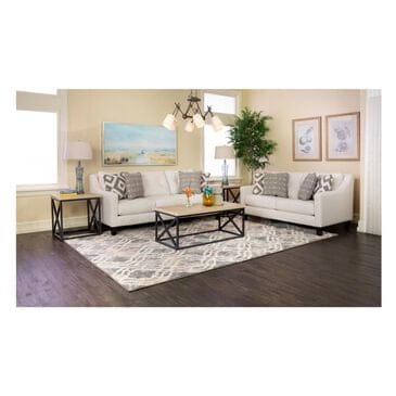 Living Essentials Sugarshack Sofa and Loveseat in Glacier White, , large