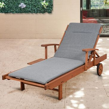 International Home Miami Amazonia Nieuw Patio Lounger in Brown/Grey, , large