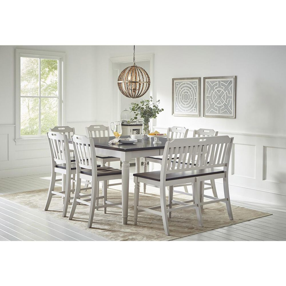 Waltham Orchard Park Square Counter Height Table in Gray and Brown - Table Only, , large