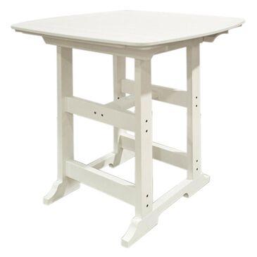 Oceanside Bar Height Table in White, , large