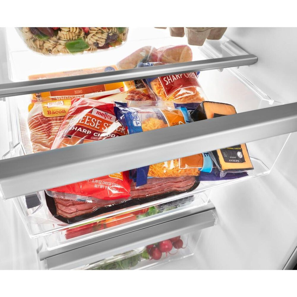 """Whirlpool 24.6 Cu. Ft. 36"""" Wide Side-by-Side Refrigerator in Black Stainless, , large"""