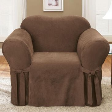 Surefit Chair Slipcover in Chocolate, , large