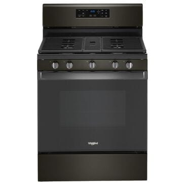 Whirlpool 5.0 Cu. Ft. Gas Range with Center Oval Burner in Black Stainless Steel, , large