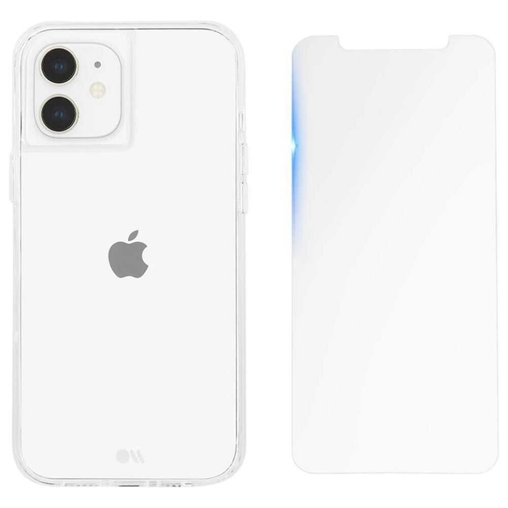 Case-Mate Protection Pack Tough Case And Glass Screen Protector For Apple iPhone 12 Mini in Clear, , large