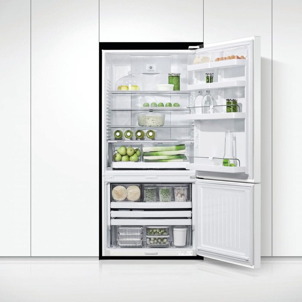 Fisher and Paykel 17.5 Cu. Ft. ActiveSmart Counter Depth Refrigerator Right Hinge in White , , large