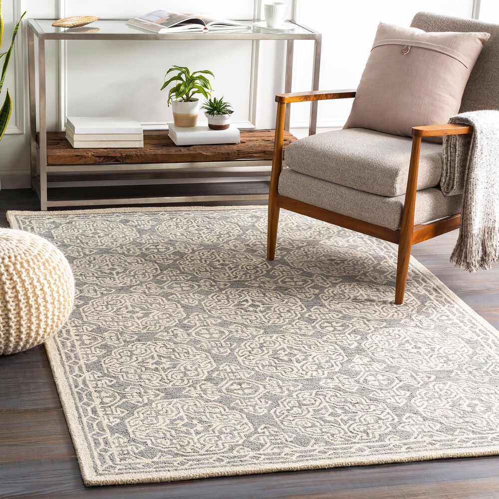 Surya Granada GND-2304 6' x 9' Medium Gray, Beige and Charcoal Area Rug, , large