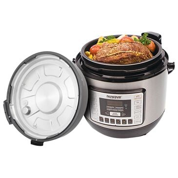 NuWave 6-Quart Pressure Cooker in Black, , large