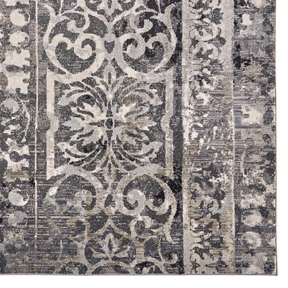 """Feizy Rugs Kano 3871F 4'3"""" x 6'3"""" Charcoal and Ivory Area Rug, , large"""
