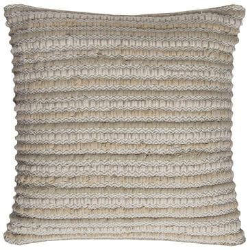 """Rizzy Home 20"""" x 20"""" Down Pillow in Beige and Ivory, , large"""