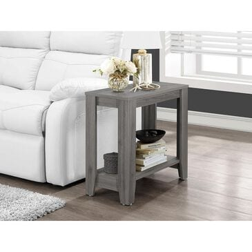 """Monarch Specialties 12"""" x 24"""" Accent Table in Grey, , large"""