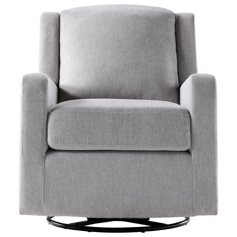 Ovis Clara Nursery Swivel Glider Chair in Light Gray and Black, , large