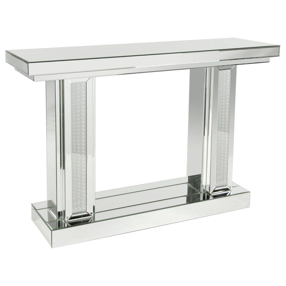 Uma Enterprises Annabel Console Table in Silver, , large
