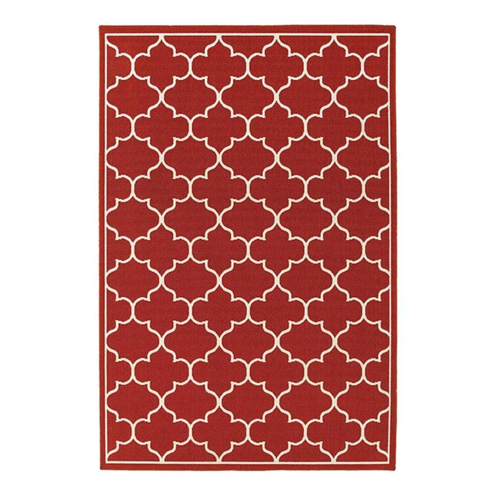 "Oriental Weavers Meridian 1295R 7'10"" Round Red Area Rug, , large"