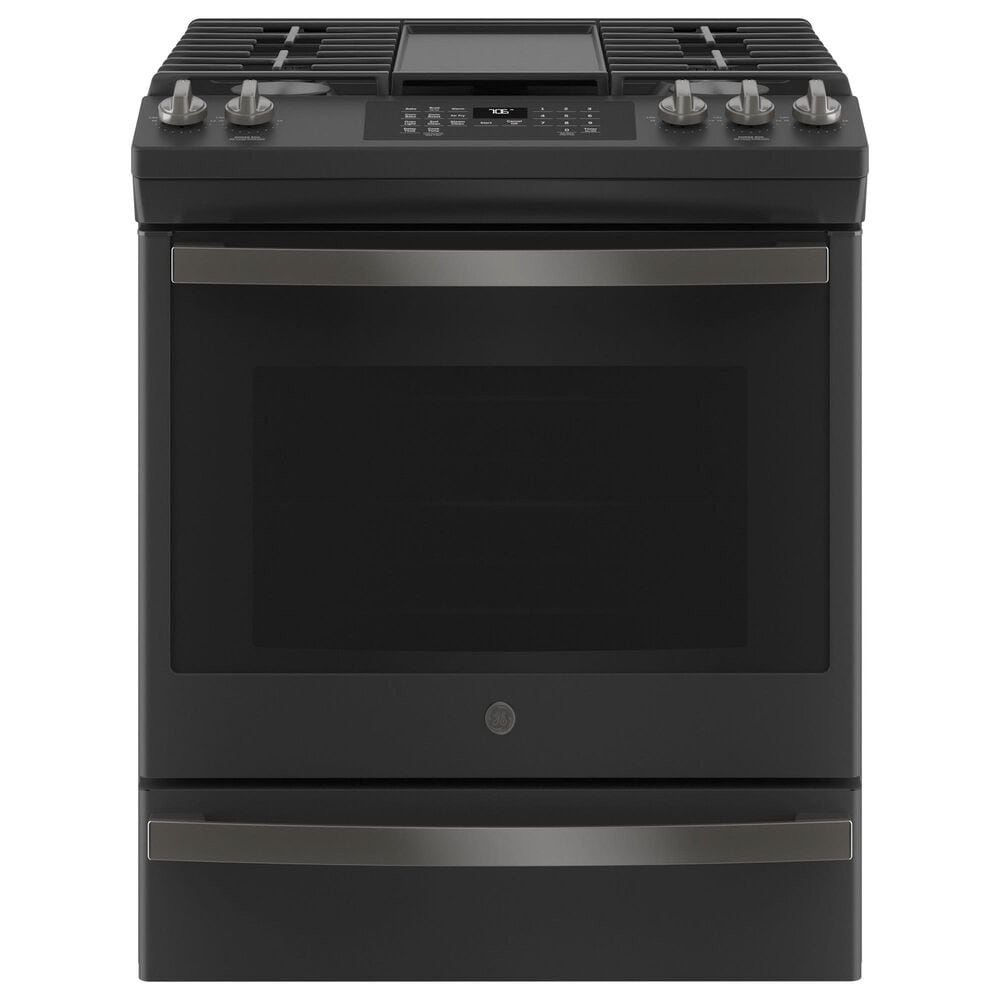 """GE Appliances 30"""" Slide-In Front Control Convection Gas Range with No Preheat Air Fry in Black Slate, , large"""