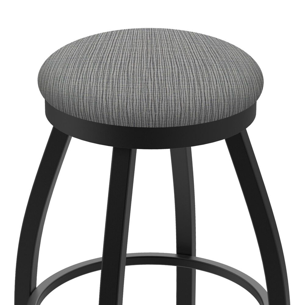 """Holland Bar Stool 802 Misha 25"""" Swivel Counter Stool with Black Wrinkle and Graph Alpine Seat, , large"""