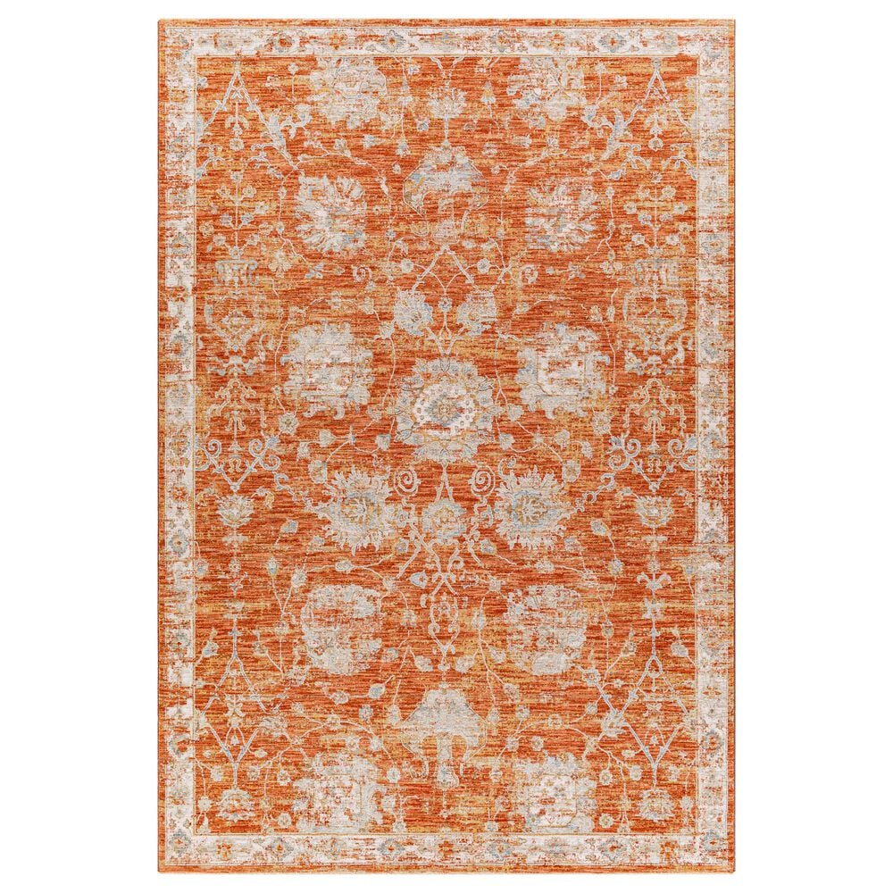 "Surya Avant Garde 6'7"" x 9'6"" Orange, Blue and Beige Area Rug, , large"