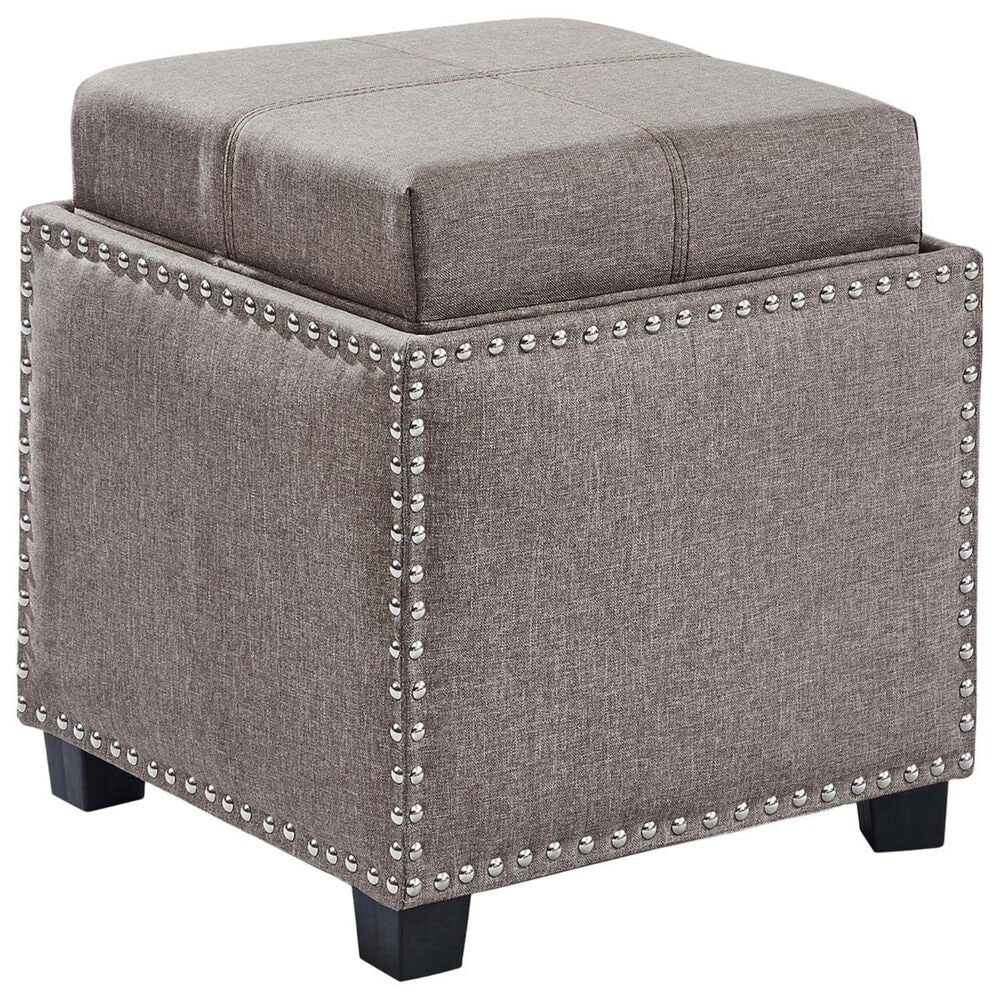 Blue River Blaze Ottoman in Brown, , large