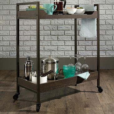 Sauder North Avenue Drink Cart in Smoked Oak, , large